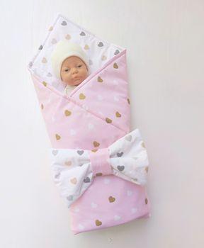 Конвертик одеяло 100*80 см Pink Heart