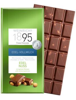 Ciocolată cu lapte și alune întregi Weinrichs 1895 100g