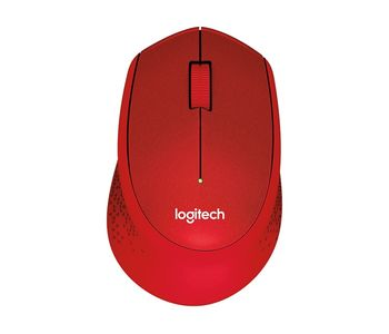 Logitech Wireless M330 Silent Plus, Optical Mouse for Notebooks, nano receiver, Red