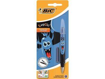 Ручка перьевая BIC Easy Clic Monster + запаска, синяя