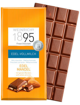 Молочный шоколад с мендалем Weinrichs 1895 100 г