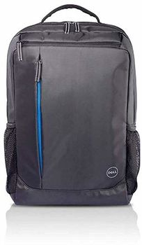 "Dell Essential Backpack 15"" (E51520P), Water bottle holder, water resistant, zippered front pocket, reflective elements, foam padded laptop compartment, Black reflective printing."
