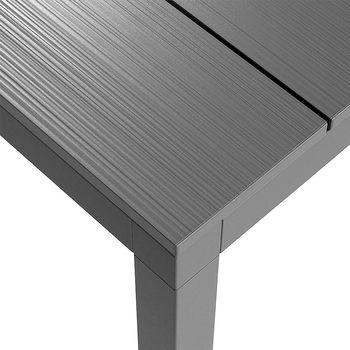 Стол металлический раздвижной Nardi RIO ALU 140 EXTENSIBLE vern. antracite vern. antracite 48652.02.000 (Стол металлический раздвижной для сада и террасы)