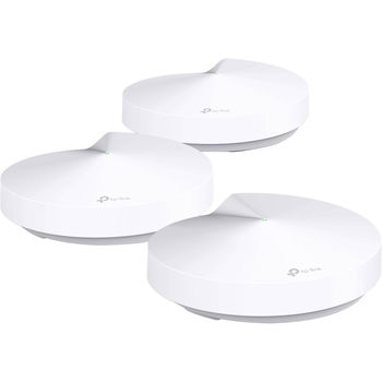 TP-LINK Deco M5  AC1300 Whole-Home Wi-Fi Unit, 867Mbps on 5GHz +  400Mbps on 2.4GHz, 802.11ac/b/g/n, 2 Gigabit Lan Port, Adaptive Routing Technology, Antivirus, Parental Controls, Quality of Service, BT 4.2, MU-MIMO, Beamforming, 4 internal antennas