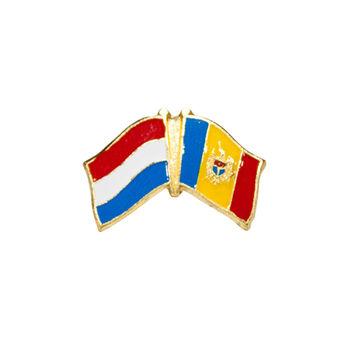 купить Значок - Флаг Нидерланды & Молдова в Кишинёве