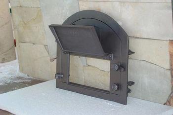 Дверца чугунная глухая левая PIZZA 1