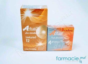купить Prezervative Actual N12 Texturate (reliefate)+ Prezervative Actual N4 Aromate  (Cadou) в Кишинёве