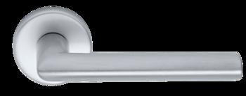 Дверная ручка на розетке Nevada-F1 серебро + накладка WC