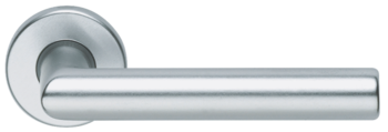 Дверная ручка на розетке Dublino-F1 серебро + накладка WC