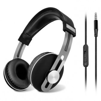 SVEN AP-750MV, Headphones with microphone, 3.5mm (4 pin) or 2*3.5 mm (3 pin) stereo mini-jack, Microphone & volume control on the removable cable, Rich bass, Cable length: 1.2m + 1m (adapter for PC), Black