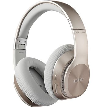 Edifier W820BT Gold / Bluetooth and Wired On-ear headphones with microphone, BT Type 4.1, 3.5 mm jack, Dynamic driver 40 mm, Frequency response 20 Hz-20 kHz, On-ear controls, Ergonomic Fit, Battery Lifetime (up to) 80 hr, charging time 4 hr