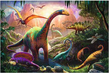"""16277 Trefl Puzzle - """"100"""" - Dinosaurs Land"""