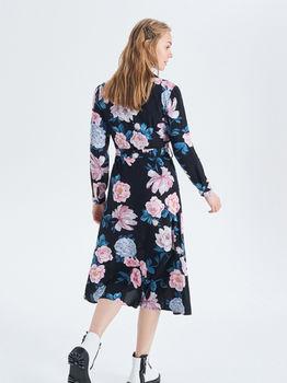 Платье CROPP Черный в цветочек vk686-99x