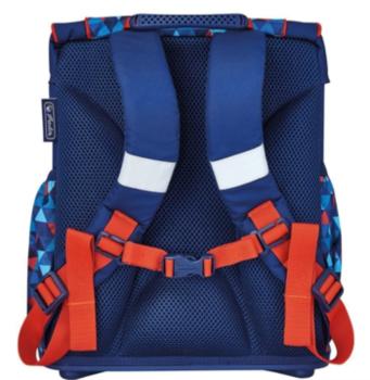 """Школьный рюкзак """"Геометрический"""" Herlitz I синий"""