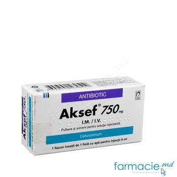купить Aksef® pulb.+solv./sol. inj 750 mg N1 + 6 ml N1 в Кишинёве