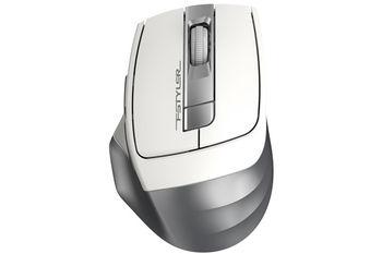 Wireless Mouse A4Tech FG35, White/Silver