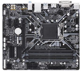 GIGABYTE Z370M DS3H, Socket 1151, Intel® Z370 (9th/8th Gen CPU), Dual 4xDDR4-3866, CPU Intel graphics, DVI, HDMI, 1xPCIe X16, 6xSATA3, RAID, 1xM.2, 2xPCIe X1, ALC887 HDA, GbE LAN, 6xUSB3.1, mATX