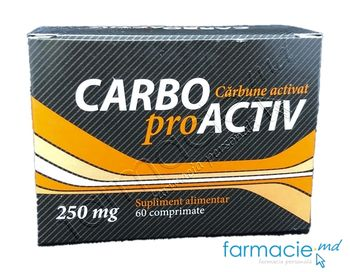 купить Carbo pro activ comp. 250mg N60 в Кишинёве