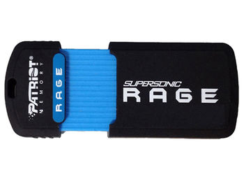64GB USB Flash Drive Patriot Supersonic Rage PEF64GSRUSB, Rubber coated, up to 180MB/s Read, USB 3.1 (Compatible USB 3.0) (memorie portabila Flash USB/внешний накопитель флеш память USB)