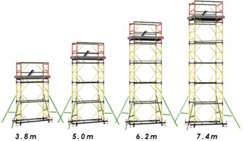 купить Ascara.Вышка BCP - 2 тура модульные передвижные (0,7 x 2,0) в Кишинёве