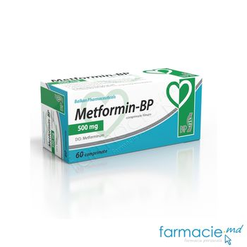 купить Metformin-BP comp.film.500 mg N10x6 (Balkan) в Кишинёве