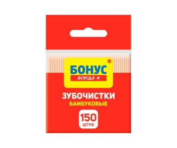 купить Бамбуковые зубочистки Bonus, 150 шт. в Кишинёве