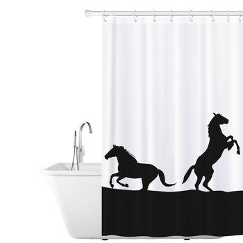 купить Тканевая штора для ванной  Tatkraft , с кольцами, 180 х 180 см 17610 в Кишинёве