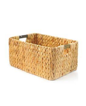 Корзина плетеная прямоугольная с деревянными ручками, 38*27*17