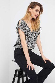 Блуза ORSAY Черно-белый 662107