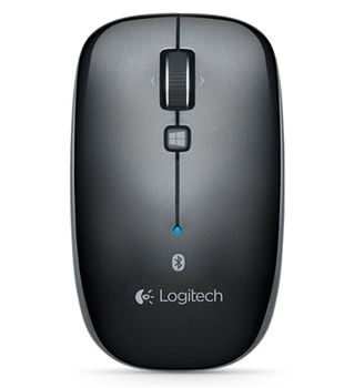 Logitech Bluetooth Mouse M557 Black, Optical Mouse for Notebooks, Windows8 Start screen button, Black, Retail