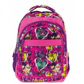 """Школьный рюкзак """"Сердечки"""" Ecada I розовый"""