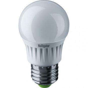 Лампа светодиодная ( холодный белый свет) NLL-P-G45-5-230-4K-E27,  5W