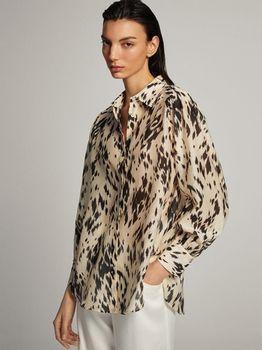 Блуза Massimo Dutti Бежевый с принтом 5164/848/710