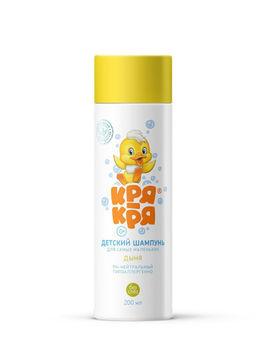 Детский шампунь Кря-Кря для самых маленьких, с ароматом дыни, для малышей, 0+, 200 мл