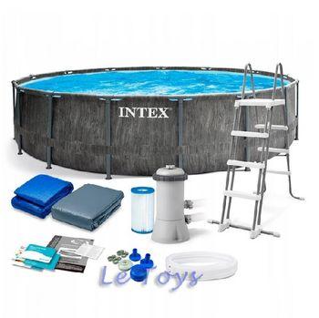 Бассейн GreyWood Premium 457×122см, 16805Л, метал каркас