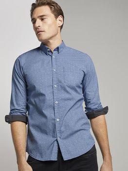 Рубашка Tom Tailor Синий дизайн формы tom tailor 1015314