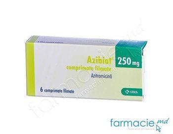 купить Azibiot comp. film. 250 mg N6 в Кишинёве