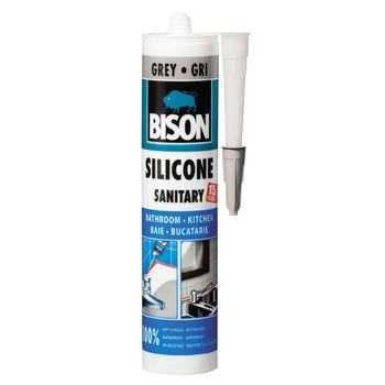 купить Bison Силикон санитарный Серый 280мл в Кишинёве