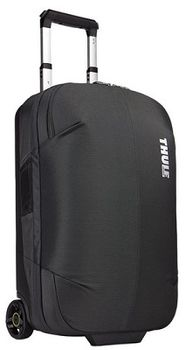Travel Bag - THULE Subterra Rolling Carry-on 36L, Dark Shadow, 800D Nylon, Dimensions 55 x 35 x 23 cm, Weight 3.18 kg, Volume 36L, Bag design absorbs the impact of travel due to the durable exoskeleton and molded polycarbonate back panel