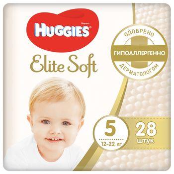 купить Подгузники Huggies Elite Soft 5 (12-22 kg), 28 шт. в Кишинёве