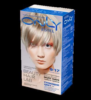 Краска для волос,ESTEL Only, 100 мл., 9/17 - Блондин пепельно-коричневый