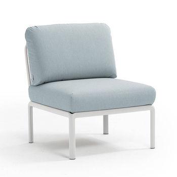 Кресло модуль центральный с подушками Nardi KOMODO ELEMENTO CENTRALE BIANCO-ghiaccio Sunbrella 40373.00.138