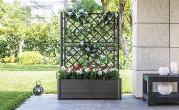cumpără Ghiveci Italia pentru flori, pătrat cu spalier 430x430x1420 mm, maro în Chișinău