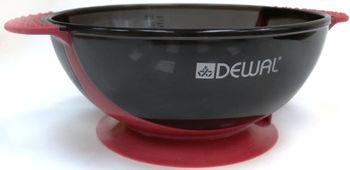 Чаша для краски с прорезиненной вставкой 300 мл DEWAL T-18wine