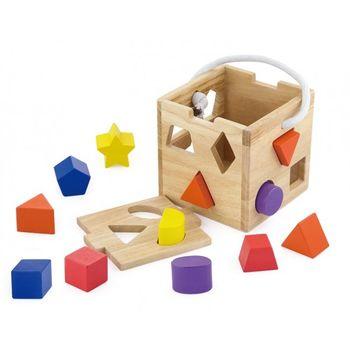 cumpără Viga jucărie de lemn sorter Cub în Chișinău