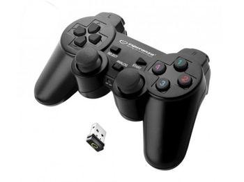 cumpără Gamepad Wireless Esperanza GLADIATOR EGG108K  Black, vibration Game Pad, 16 buttons, 2 sticks, Ergonomic design, 2 modes (analog and digital), Soft sweat-resistant surface coating, PC Win 7,8,10 / PS3 compatible, USB, Black în Chișinău