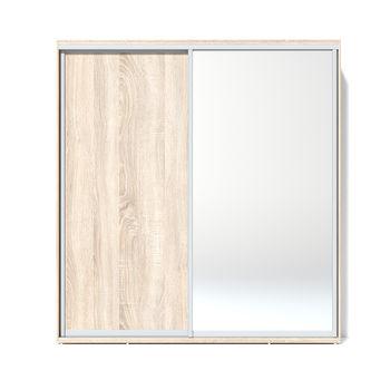 Шкаф купе 2000 1 зеркало, Дуб сонома
