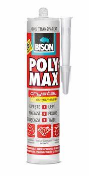 купить Bison Клей Poly Max Crystal Бесцветный 300мл в Кишинёве