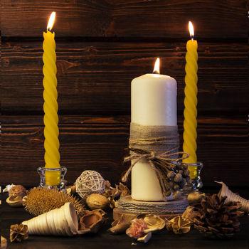 купить Свечи витые, желтые, 4 шт. в Кишинёве