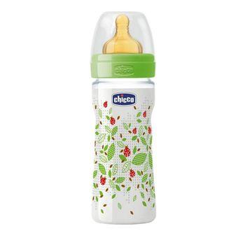купить Chicco бутылочка пластиковая с латексной соской Well Being, 250 мл в Кишинёве
